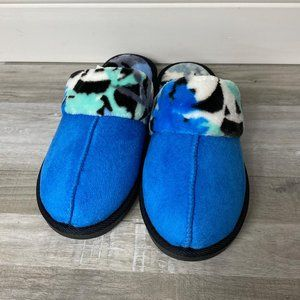 Vera Bradley Cozy Slippers Coastal Blue Small 5/6